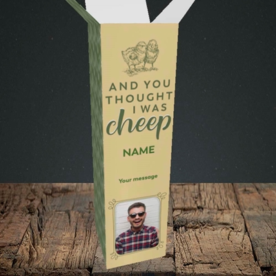 Picture of Cheep, Easter Design, Upright Bottle Box