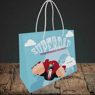Picture of Superdad,(Without Photo) Father's Day Design, Small Landscape Gift Bag