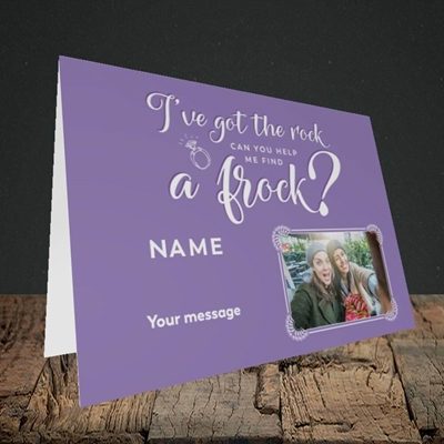Picture of Got The Rock, Wedding Design, Landscape Greetings Card