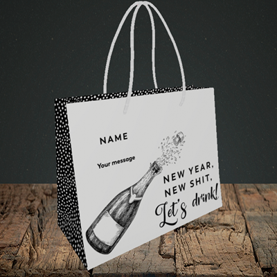 Picture of Let's Drink(Without Photo), New Year Design, Small Landscape Gift Bag
