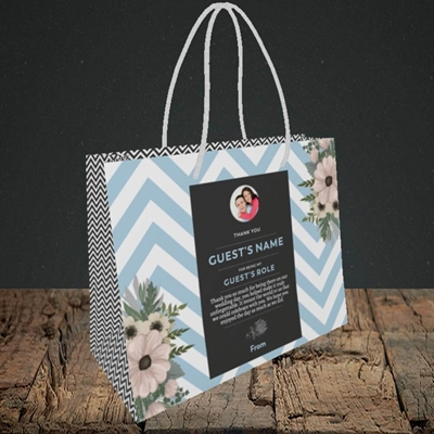 Picture of Zigzag Blue SG, Wedding Design, Small Landscape Gift Bag