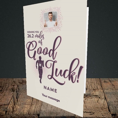 Picture of Miles of Luck, Good Luck Design, Portrait Greetings Card