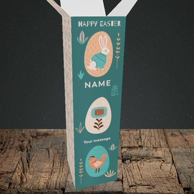 Picture of Easter Egg Farm(Without Photo), Easter Design, Upright Bottle Box