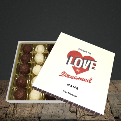 Picture of let's live the love (Without Photo), Valentine Design, Choc 25