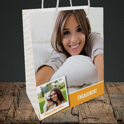 Picture of Photo, Engagement Design, Medium Portrait Gift Bag