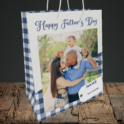 Picture of 1. Large Photo, Father's Day Design, Medium Portrait Gift Bag