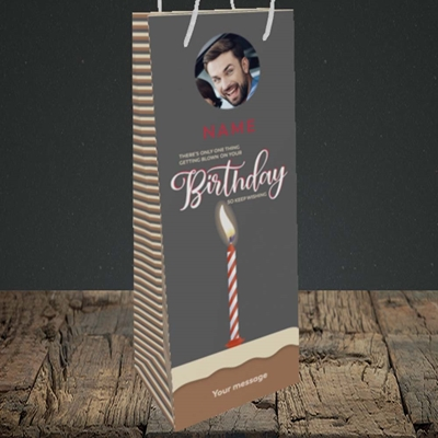 Picture of Wishing To Be Blown, Birthday Design, Bottle Bag