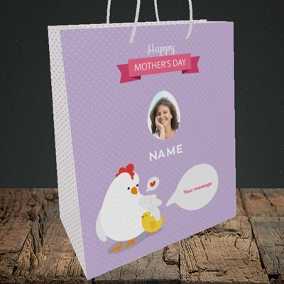 Picture of Hen & Chick, Mother's Day Design, Medium Portrait Gift Bag