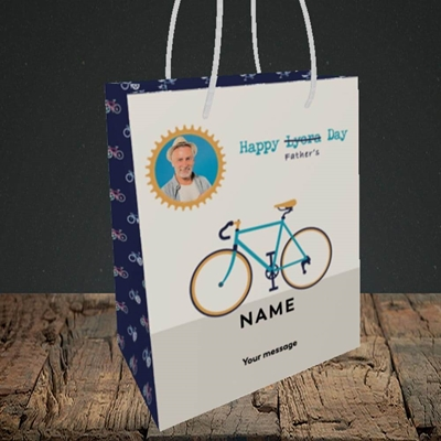 Picture of Lycra Day, Father's Day Design, Small Portrait Gift Bag