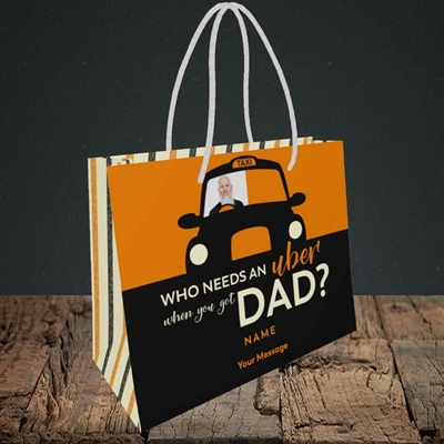 Picture of Uber Dad, Father's Day Design, Small Landscape Gift Bag