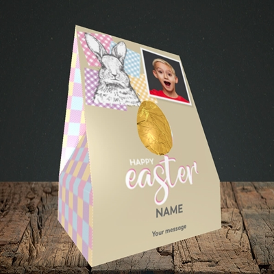 Picture of Patchwork Rabbit, Easter Design, Truffle Easter Egg