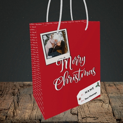 Picture of 2. A Merry Christmas Polaroid, Christmas Design, Small Portrait Gift Bag