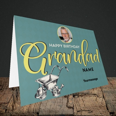Picture of Grandad Gardening, Birthday Design, Landscape Greetings Card