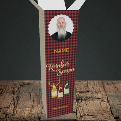 Picture of Reinbeer, Christmas Design, Upright Bottle Box