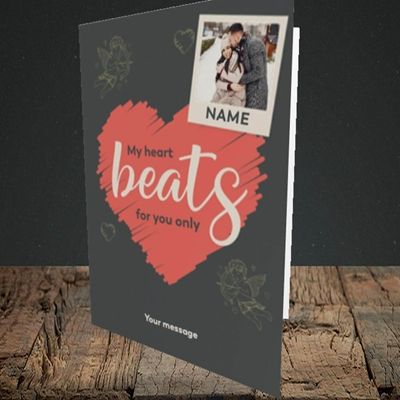 Picture of Beats For You, Valentine's Design, Portrait Greetings Card