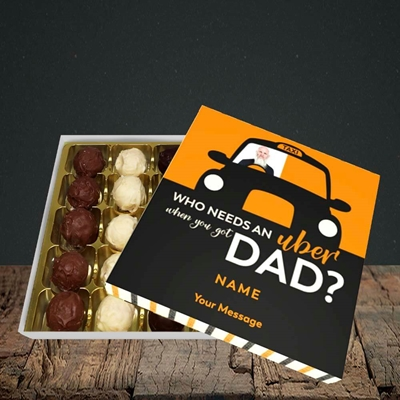 Picture of Uber Dad, Father's Day Design, Choc 25