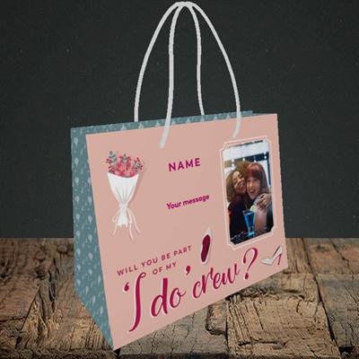 Picture of I Do Crew, Wedding Design, Small Landscape Gift Bag