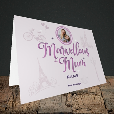 Picture of Marvellous Mum, Mother's Day Design, Landscape Greetings Card