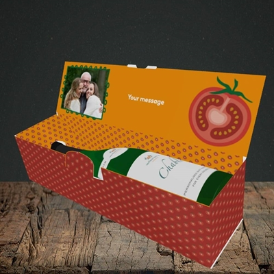 Picture of Tomatoes, Father's Day Design, Lay-down Bottle Box