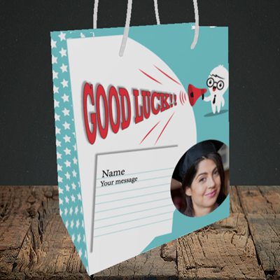 Picture of Shout, Good Luck Design, Medium Portrait Gift Bag
