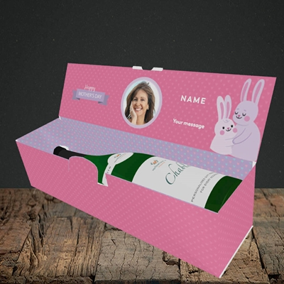 Picture of Mummy You Are The Best Bunny, Mother's Day Design, Lay-down Bottle Box