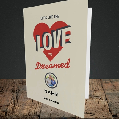 Picture of Let's Live The Love, Valentine's Design, Portrait Greetings Card