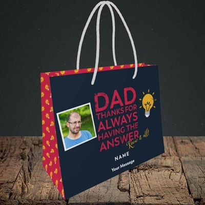 Picture of Know It All, Father's Day Design, Small Landscape Gift Bag