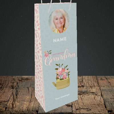 Picture of Grandma, Birthday Design, Bottle Bag