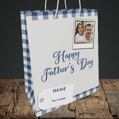 Picture of 2. Polaroid, Father's Day Design, Medium Portrait Gift Bag