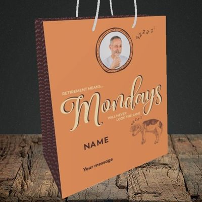 Picture of Mondays, Retirement Design, Medium Portrait Gift Bag