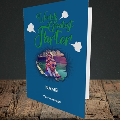 Picture of World's Greatest Farter, Father's Day Design, Portrait Greetings Card