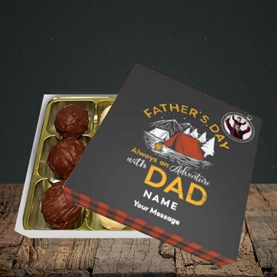 Picture of Adventure With Dad, Father's Day Design, Choc 9