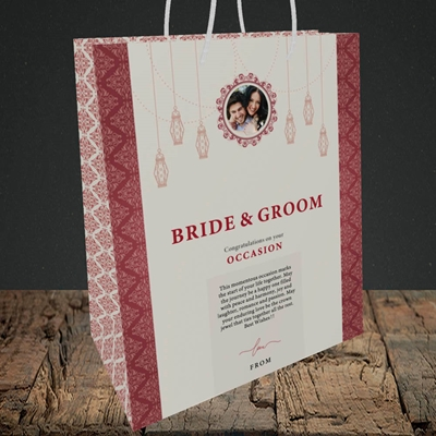 Picture of Moroccan Influences Red B&G, Wedding Design, Medium Portrait Gift Bag