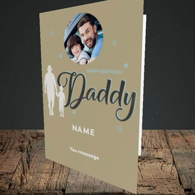 Picture of Daddy & Son, Birthday Design, Portrait Greetings Card