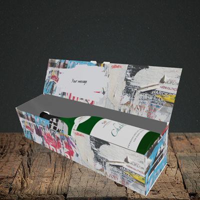 Picture of Graffiti, (Without Photo) Birthday Design, Lay-down Bottle Box