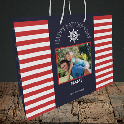 Picture of Nautical, Father's Day Design, Medium Landscape Gift Bag