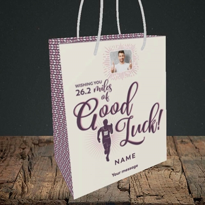 Picture of Miles of Luck, Good Luck Design, Small Portrait Gift Bag