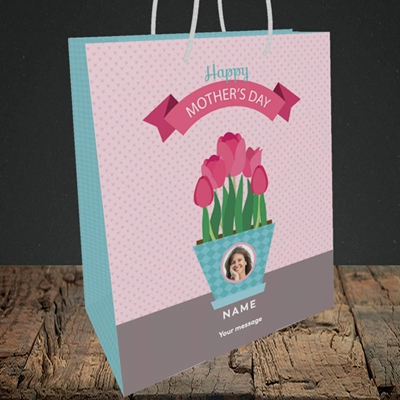 Picture of Flowers On The Table, Mother's Day Design, Medium Portrait Gift Bag