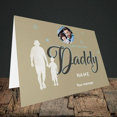 Picture of Daddy & Son, Birthday Design, Landscape Greetings Card
