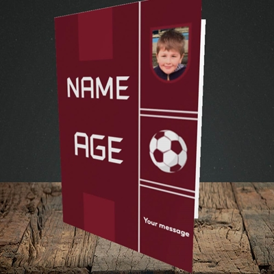 Picture of Footie Shirt, Birthday Design, Portrait Greetings Card