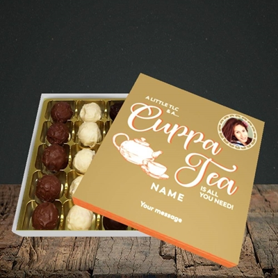 Picture of Cuppa Tea, Get Well Soon Design, Choc 25