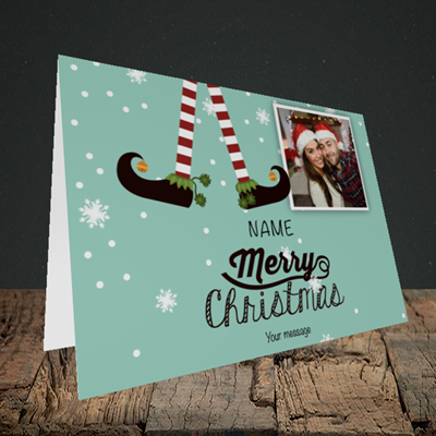 Picture of Elf, Christmas Design, Landscape Greetings Card