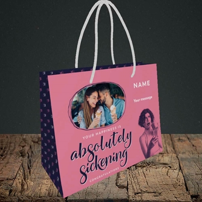 Picture of Absolutely Sickening, Wedding Design, Small Landscape Gift Bag