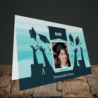 Picture of Hats, Graduation Design, Landscape Greetings Card