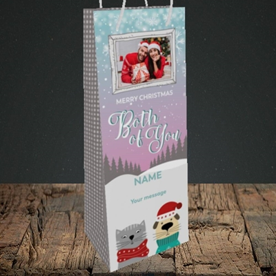 Picture of Both Of You, Christmas Design, Bottle Bag