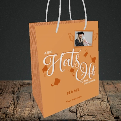 Picture of Hats Off, Graduation Design, Small Portrait Gift Bag