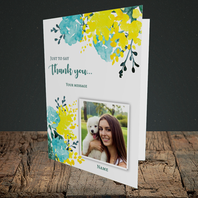 Picture of Watercolour, Thank You Design, Portrait Greetings Card