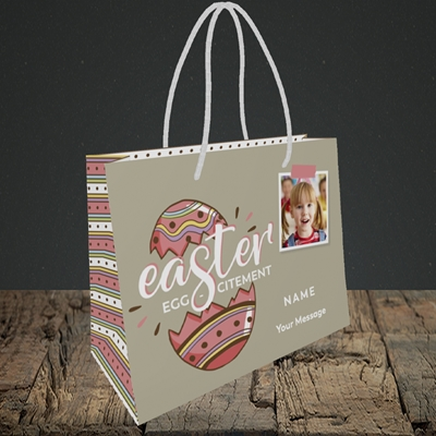 Picture of Egg-citement, Easter Design, Small Landscape Gift Bag
