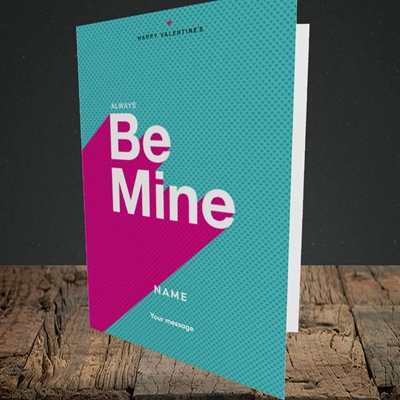 Picture of Always be Mine (type) (Without Photo), Valentine's Design, Portrait Greetings Card