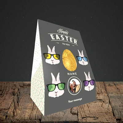 Picture of Hipster Bunnies, Easter Design, Small Egg